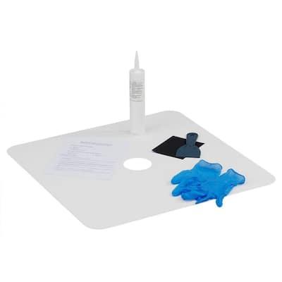 24 in. W x 24 in. L Shower Floor Repair Inlay Kit, White
