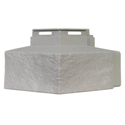 Ledge - 5 in. x 5.6 in. Premium Ledge in Mortar Gray - Corner (4-Corners per Box) Trim Plastic Siding