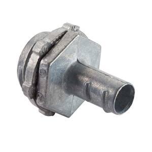Halex 3 8 In Flexible Metal Conduit Fmc Screw In Connector 90440 The Home Depot