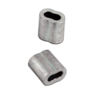 Gritted Crimping Sleeve for 9-Gauge Smooth Wire (25-Pack)