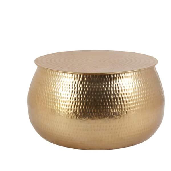 Home Decorators Collection Calluna 31, Gold Round Coffee Table