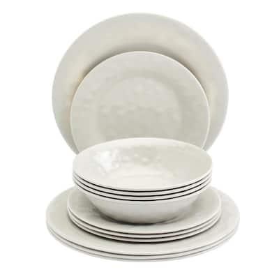 12-Piece Mist Melamine Dinnerware Set (Service for 4)