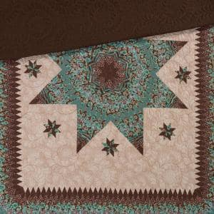 Sea Breeze Star Brown Polyester Throw