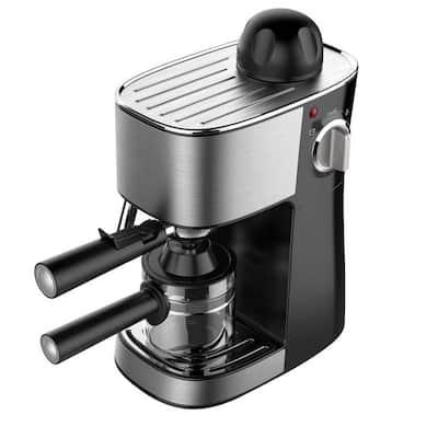 4-Cup 3.5 Bar Black Espresso Coffee Maker Machine
