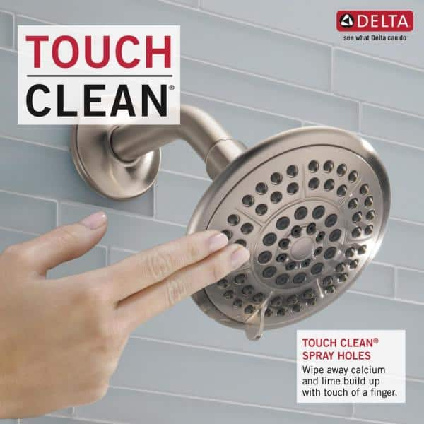 Delta Lahara 1 Handle Tub And Shower Faucet Trim Kit Only In Stainless Valve Not Included T14438 Ss The Home Depot