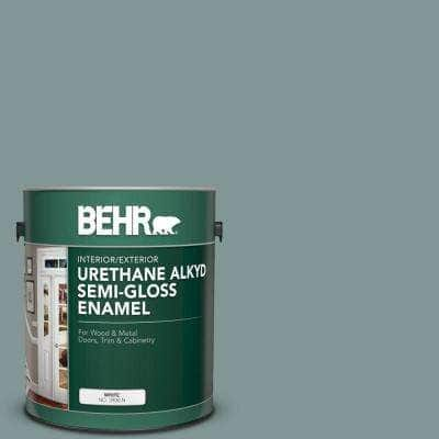 1 gal. #T18-15 In The Moment Urethane Alkyd Semi-Gloss Enamel Interior/Exterior Paint