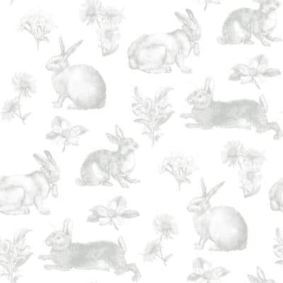 Bunny Toile Spray and Stick Wallpaper (Covers 56 sq. ft.)