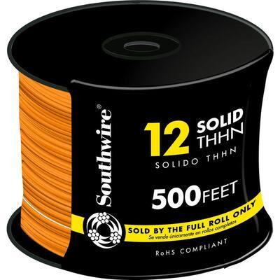 500 ft. 12 Orange Solid CU THHN Wire