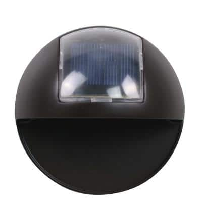 Solar Black Integrated LED Step and Stair Light (2-Pack)