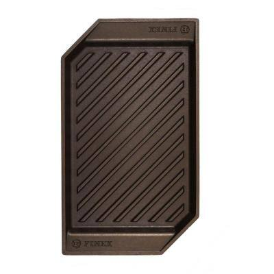 Cast Iron Collection 15 in. Cast Iron Grill Pan in Black