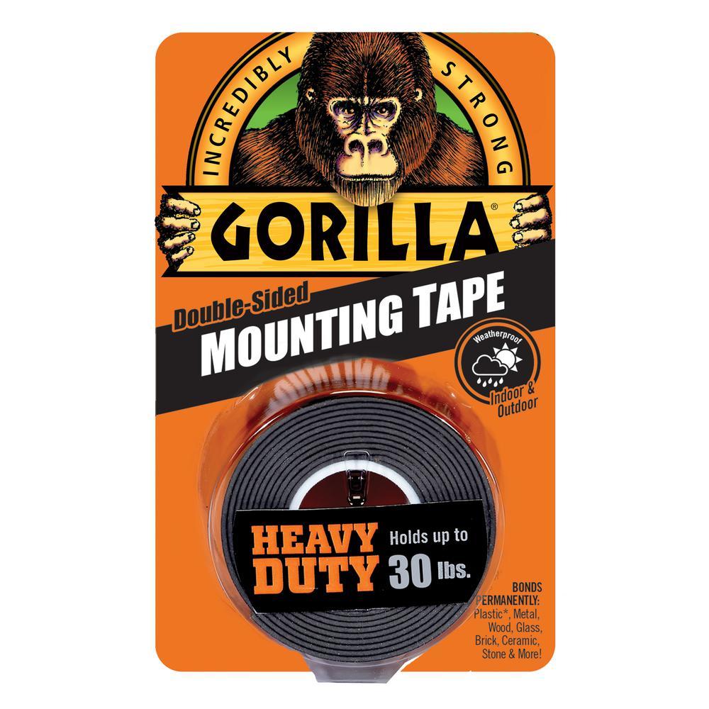 1 in. x 1.67 yd. Black Heavy Duty Mounting Tape