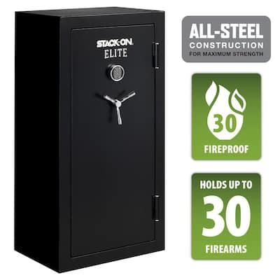 Elite 30-Gun Fireproof Safe with Electronic Lock, Black