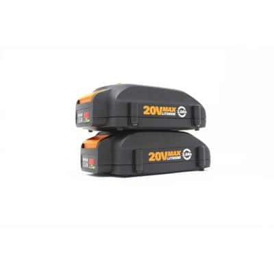 POWER SHARE 20-Volt 2.0 Ah Max Lithium-Ion Battery, 2pk