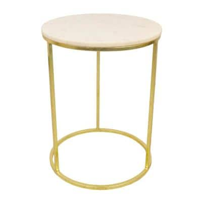 Granville Gold Marble Top Side Table