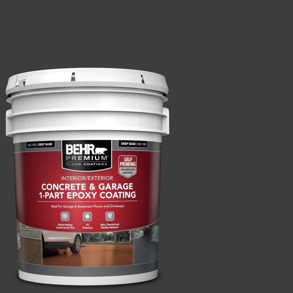 5 gal. #PPF-59 Raven Black Self-Priming 1-Part Epoxy Satin Interior/Exterior Concrete and Garage Floor Paint