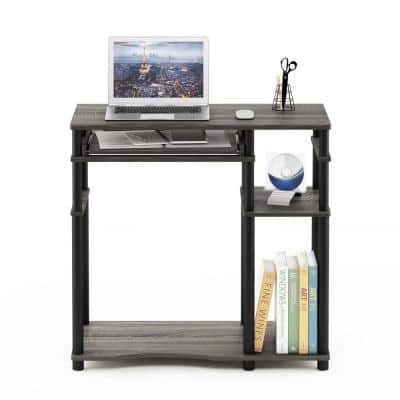 32 in. Rectangular Oak Gary Computer Desk with Keyboard Tray