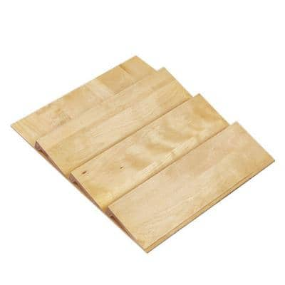 13x1.5x19 in. Spice Drawer Insert for 18 in. Shallow Drawers in Natural Maple