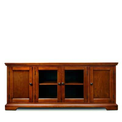 West Wood Cherry Hardwood 60 in. W TV Stand