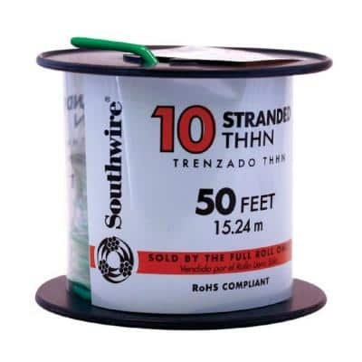 50 ft. 10 Green Stranded CU THHN Wire