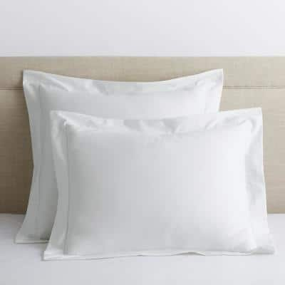 Company Cotton White Solid 300-Thread Count Wrinkle-Free Sateen King Sham