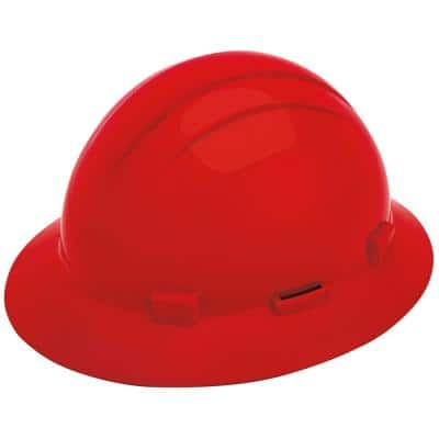 Americana Full Brim Hard Hat with Accessory Slots and Ratchet Suspension
