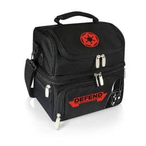 3 Qt. 8-Can Darth Vader Pranzo Lunch Tote Cooler in Black