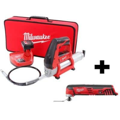 M12 12-Volt Lithium-Ion Cordless Grease Gun Kit with M12 Multi-Tool