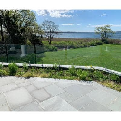 ClearView Glass Railings 36 in. x 39.37 in. Tempered Laminated Hercules Glass Panel with Spigots