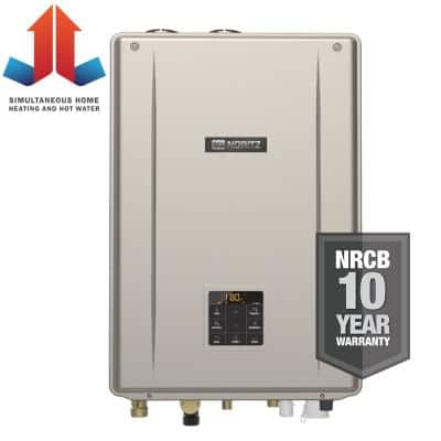 Indoor Residential Condensing Natural Gas Combination Boiler with 199,900 BTU/H Input Modulating
