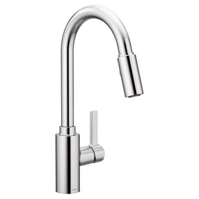 Genta LX Single-Handle Pull-Down Sprayer Kitchen Faucet with Reflex in Chrome