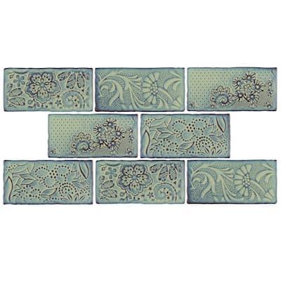 Antic Feelings Agua Marina 3 in. x 6 in. Ceramic Subway Wall Tile (4.38 sq. ft. / Case)
