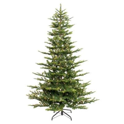 Puleo International 7.5 ft. Aspen Fir Artificial Christmas Tree with 700 Warm White Lights
