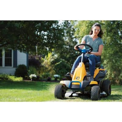 30 in. 56-Volt MAX 30 Ah Battery Lithium-Ion Electric Drive Cordless Riding Lawn Tractor with Mulch Kit Included