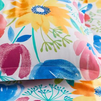 Company Cotton Blossom Multicolored Floral Cotton Percale Sham