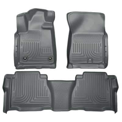 Husky Liners 2nd Seat Floor Liner Fits 15 18 F150 17 18 F250 350 Supercrew Cocoa 53490 The Home Depot