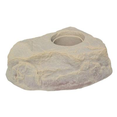 35 in. Sandstone Plastic Rock Planter
