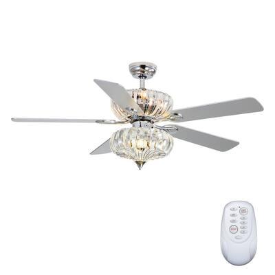 6-Light Chrome Ceiling Fan Shades Light Kit