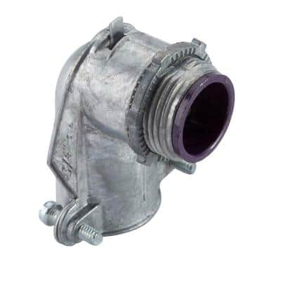 3/8 in. Flexible Metal Conduit (FMC) 90° Connector with Insulated Throat
