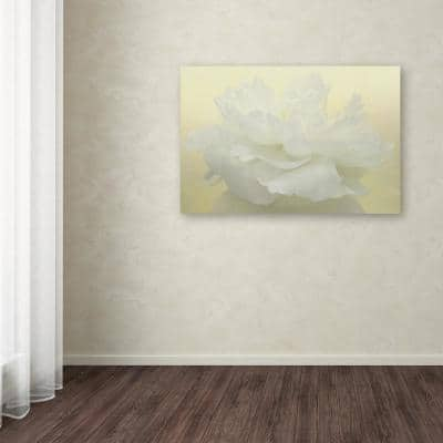 """22 in. x 32 in. """"Pure White Peony"""" by Cora Niele Printed Canvas Wall Art"""