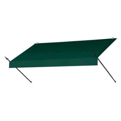 8 ft. Designer Manually Retractable Awning (36.5 in. Projection) in Forest Green