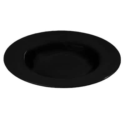 20 oz., 12.02 in. Diameter Melamine Chef Salad/Pasta/Soup Bowl in Black (Set of 12)