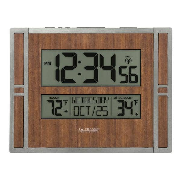 La Crosse Technology Atomic Digital, Atomic Wall Clock With Indoor Outdoor Temperature And Humidity