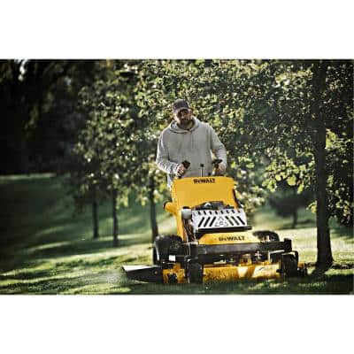 HW48 Commercial 48 in. 15 HP Kawasaki V-Twin FS541v Series Engine Dual Hydro Drive Gas Walk Behind Lawn Mower