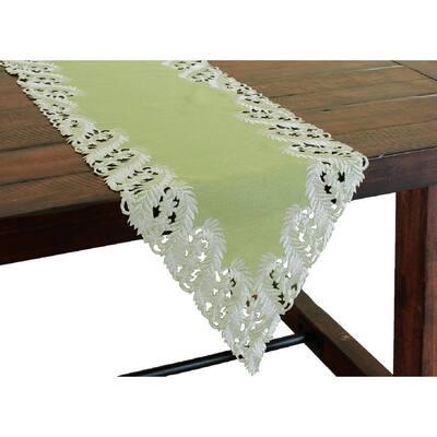 20 in. x 20 in. White Garden Trellece Lace Trim Napkins (Set of 4)