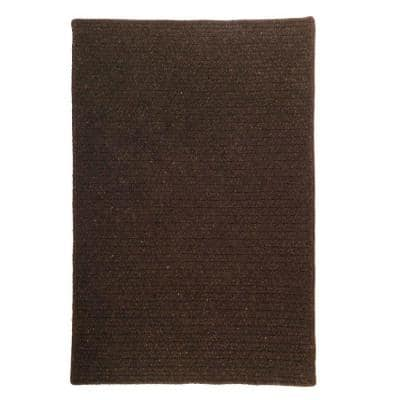 Courtyard Cocoa 2 ft. x 4 ft. Braided Rectangle Area Rug