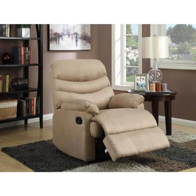 Anthony 35 in. Width Big and Tall Mocha Microfiber Wall Hugger Recliner