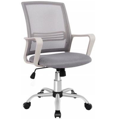 Gray Ergonomic Office Mesh Computer Desk Swivel Task Chair