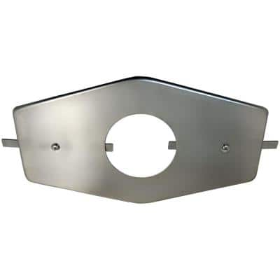 3-3/4 in. I.D. Single-Handle Stainless Steel Repair Plate with Mounting Hardware
