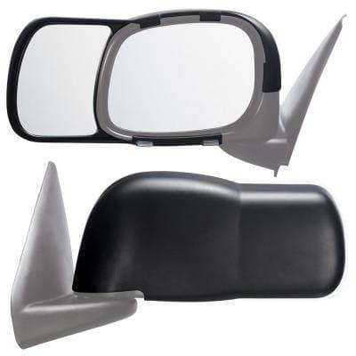 Clip-on Towing Mirror Set for 2002 - 2008 Dodge Ram 1500; 2003 - 2009 2500/3500