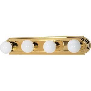 Elektra 4-Light Polished Brass Racetrack Style Bath Vanity Light